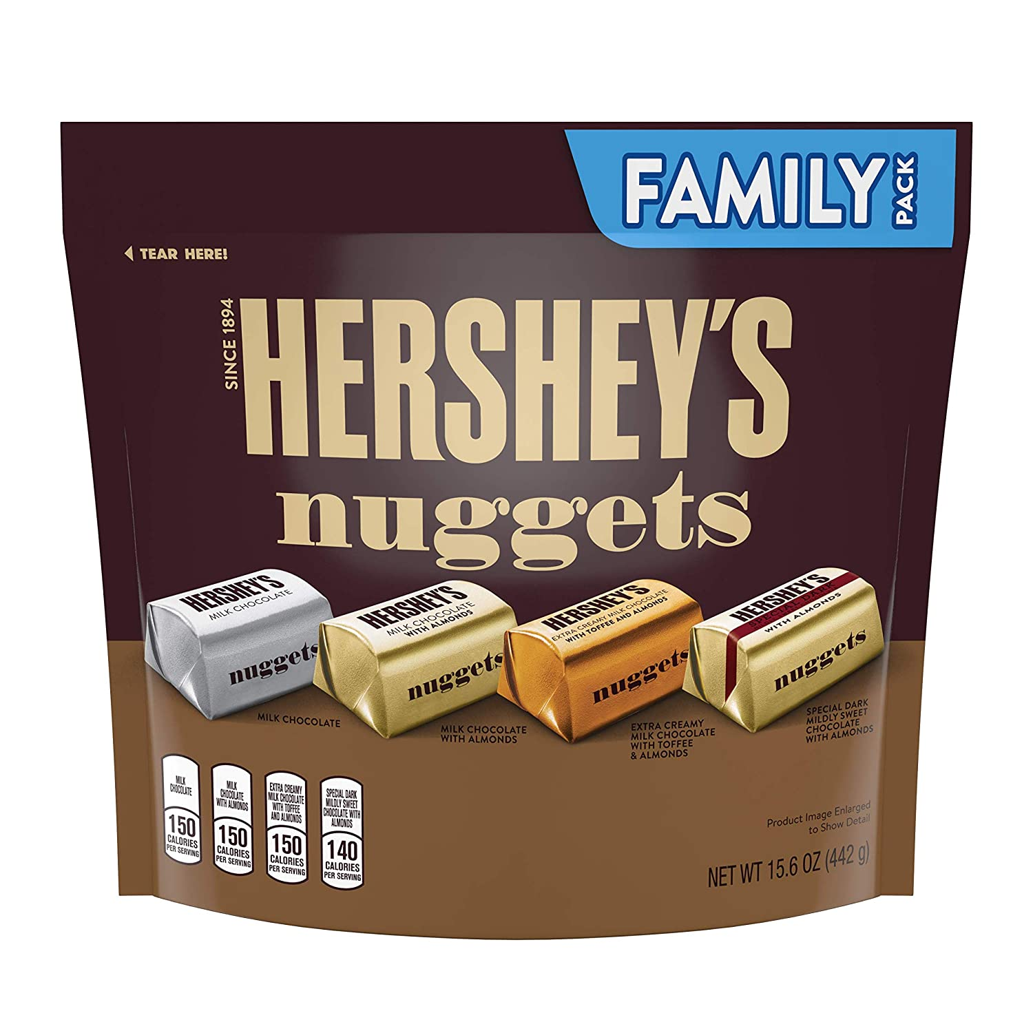 HERSHEY'S Nuggets Candy, Chocolate Assortment, 15.6 Ounce