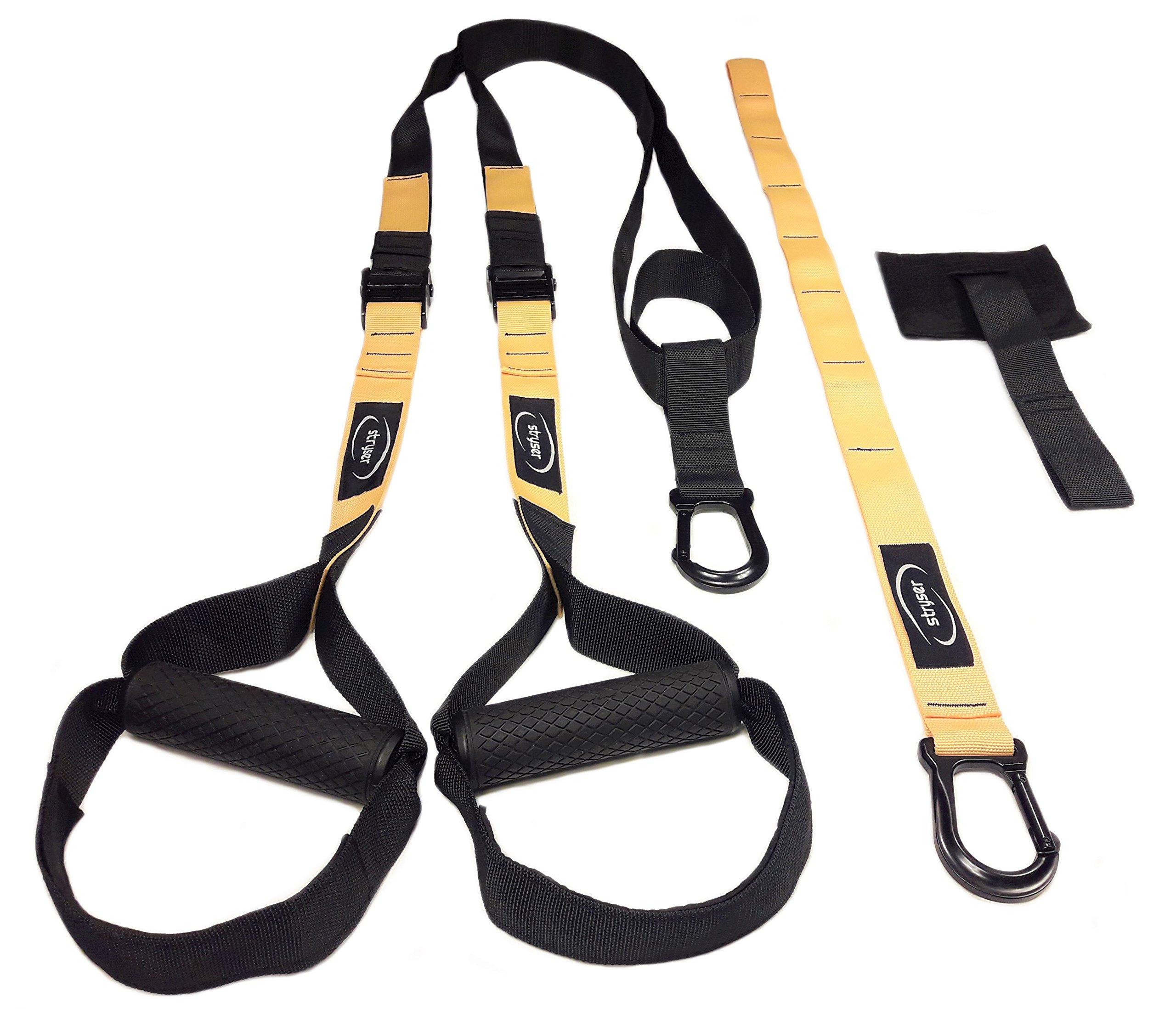STRYSER- Entrenador en suspensión para entrenamiento de cuerpo completo, fortalecimiento, resistencia y tonificación