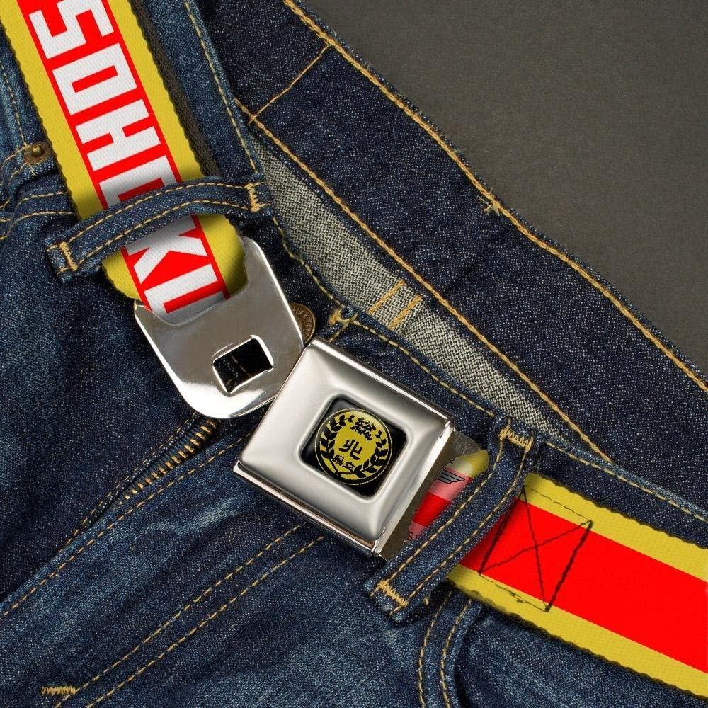 Buckle-Down Seatbelt Belt Yowamushi Pedal SOHOKU Stripe Gold//Red//White 24-38 Inches in Length 1.5 Wide