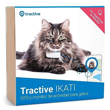 Tractive IKATI - Localizador GPS para gatos con seguimiento de actividad - Adecuado para cualquier collar.