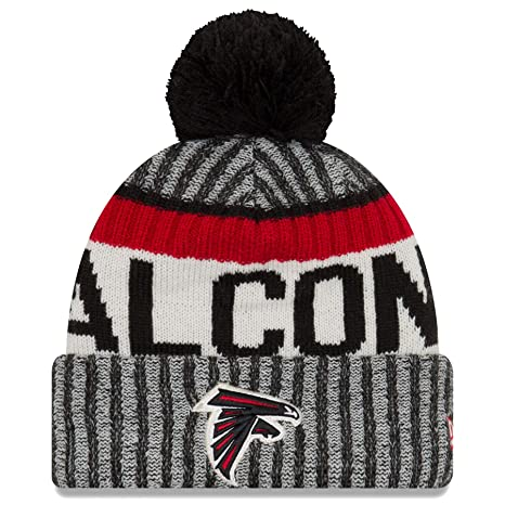 d6e102ddc2c10 Amazon.com   New Era Atlanta Falcons NFL Sideline On Field 2017 Sport Knit  Beanie Beany Mütze Grey   Sports   Outdoors