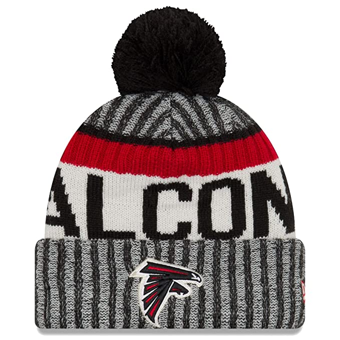 8949aaf01 Amazon.com : New Era Atlanta Falcons NFL Sideline On Field 2017 Sport Knit  Beanie Beany Mütze Grey : Clothing
