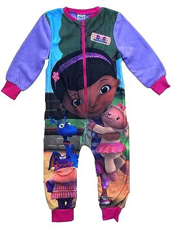 766a6a23b891 Disney Girls Doc McStuffins Fleece Onesie All in One Sleepsuit Pink ...