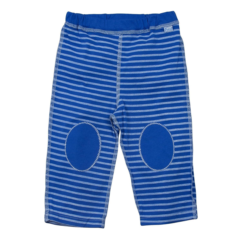 Organic Cotton Yoga Pants i play 6-12 Months, Royal Blue Stripe