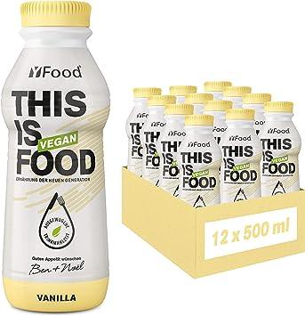 YFood Vegan Vanilla | Comida Lista Para Beber | Sustitutivo de comida | 26 g de proteína, 26 vitaminas y minerales | Bebida proteica a base de plantas ...