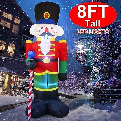 Amazon.com: Cascanueces inflable de Navidad gigante de 8 ...