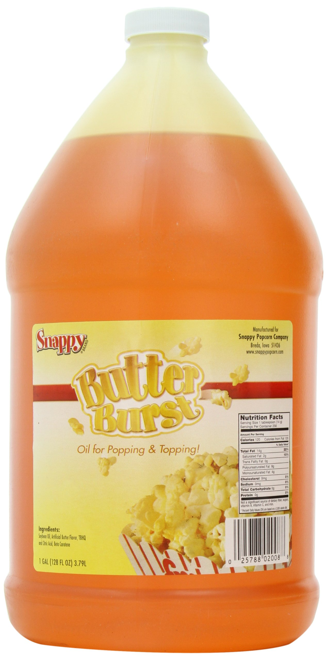 Snappy Popcorn Butter Burst Oil , 1 gallon( 128 fl oz )