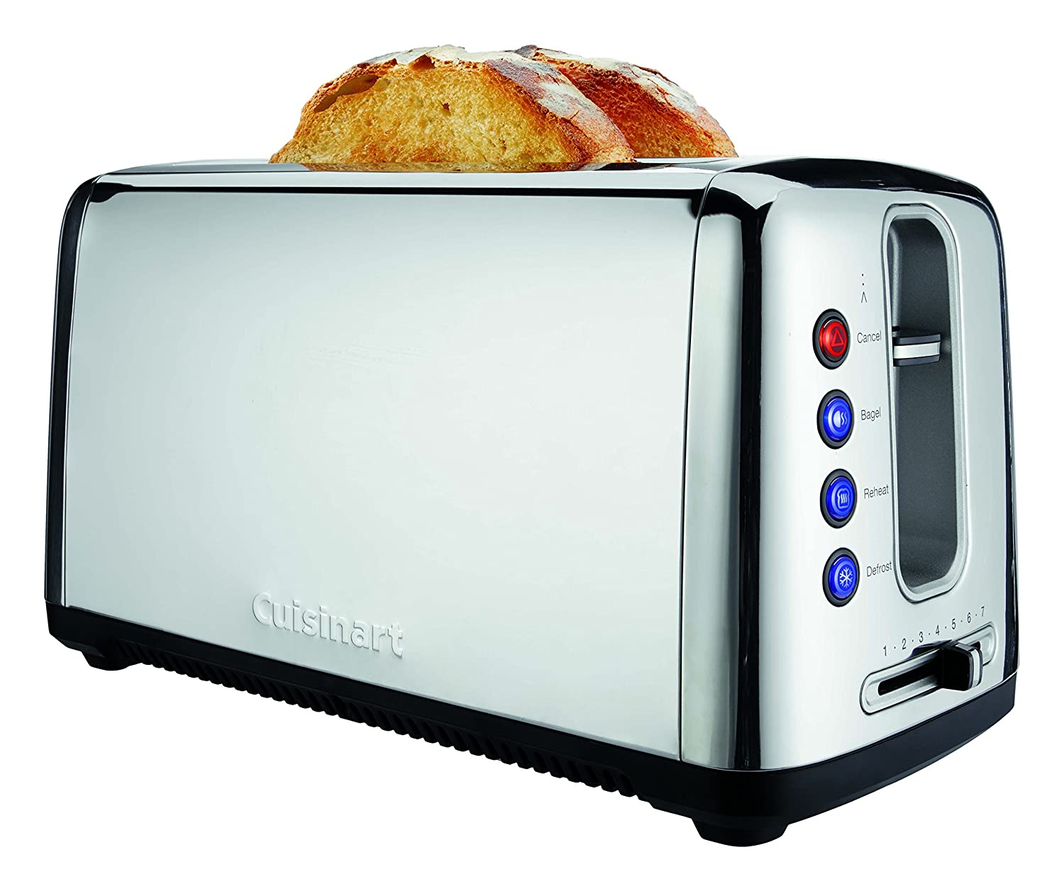Cuisinart CPT-2400 086279117786 The The Bakery Artisan Bread Toaster, One Size, Chrome (Renewed)