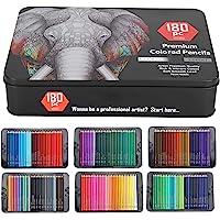 180-delige kleurpotloden set, kleurpotloden met milieuvriendelijke verf op waterbasis, kleurpotloden om te schilderen…