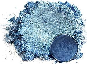 "Mica Powder Pigment ""Iceburg Blue"" (50g) Multipurpose DIY Arts and Crafts Additive   Woodworking, Epoxy, Resin, Natural Bath Bombs, Paint, Soap, Nail Polish, Lip Balm (Iceburg Blue, 50G)"