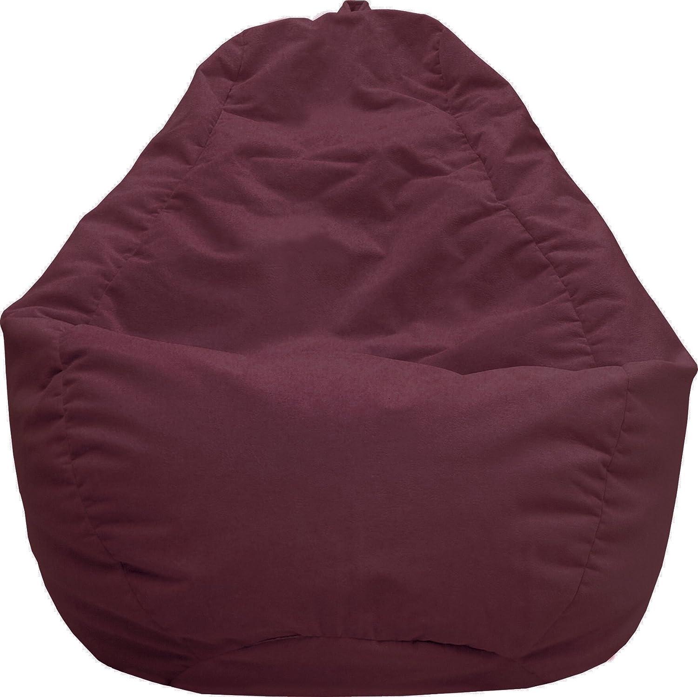 Gold Medal Bean Bags Tear Drop Fairview Micro-Fiber Suede Bean Bag, Large, Black Hudson Industries 30011258815TD