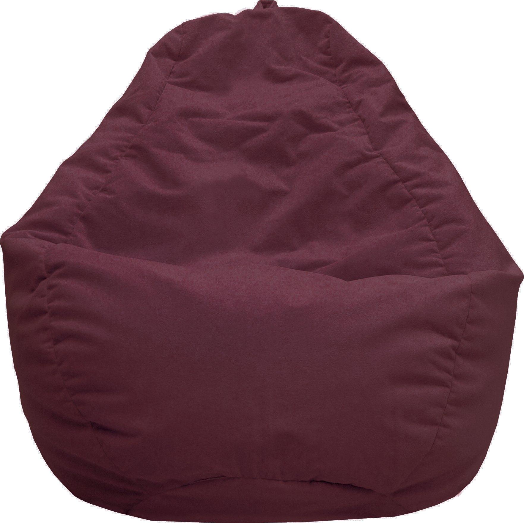 Gold Medal Bean Bags 30011258847TD Large Fairview Suede Tear Drop Bean Bag, Wine