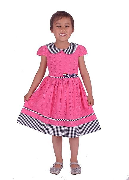 5cd14ed66261 Cinda Vestito da Cerimonia Nuziale del Cotone Ricamato Floreale delle  Ragazze  Amazon.it  Abbigliamento