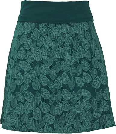 GURU-SHOP, Mini Falda, Falda Boho Plate Skirt Autumn Leaves Print Organic, Algodón, Faldas Cortas: Amazon.es: Ropa y accesorios