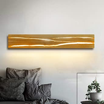 ZMH Holz Wandleuchte LED 8W Wandleuchte innen Holz ...