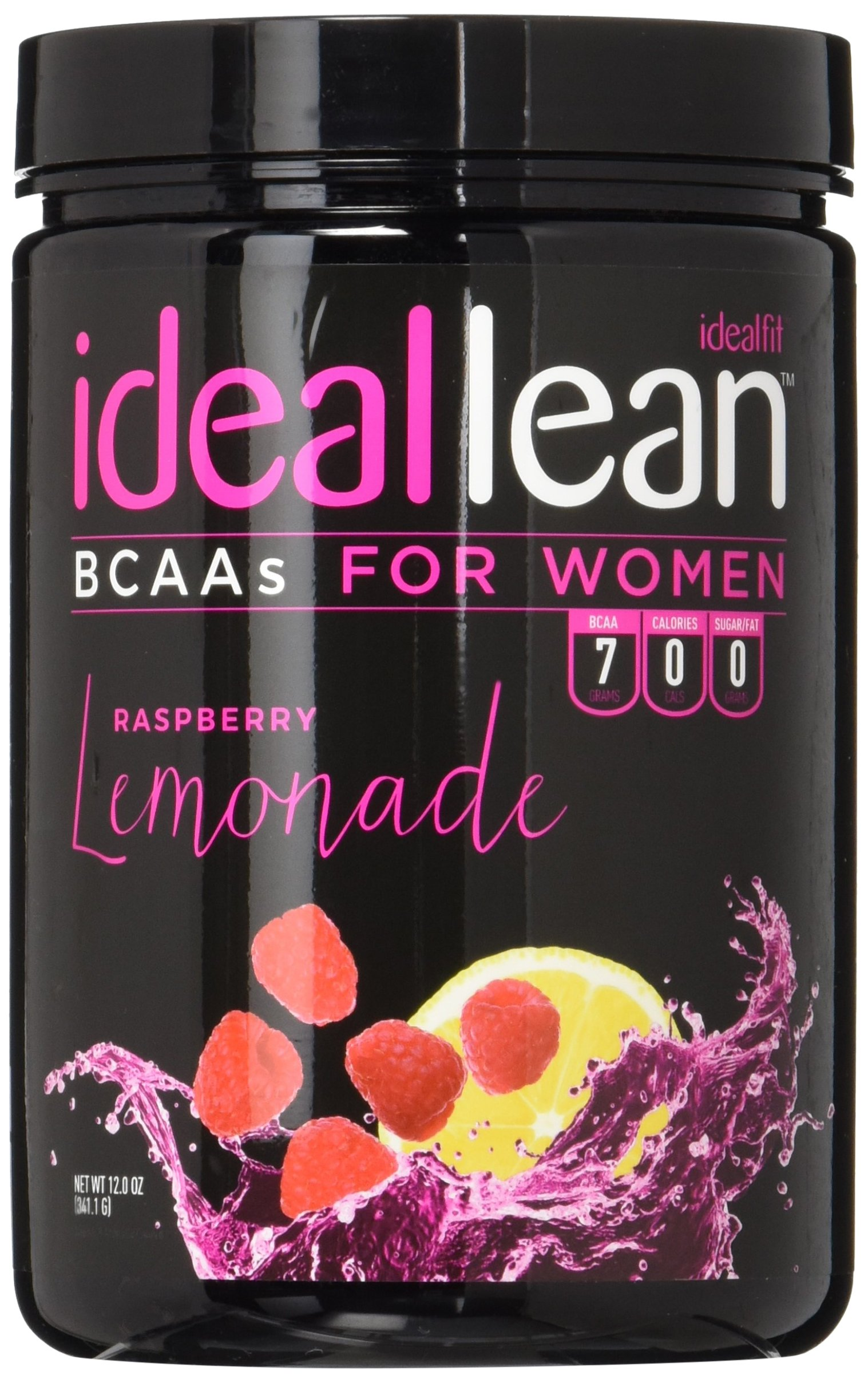 IdealLean, BCAAs For Women, Raspberry Lemonade - Build Lean Muscle Now with Branched Chain Amino Acid; Burn Fat with IdealLean's Fat Loss Blend; 0 Carbs, Sugars, and Calories, 30 Servings