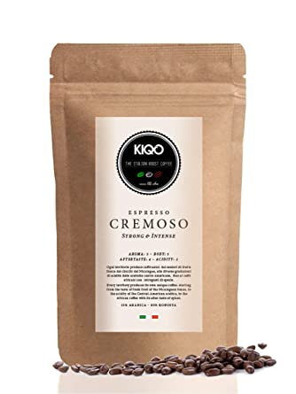 Kiqo Cremoso 500g Espresso Aus Italien In Schonenden Kleinstchargen Gerostet Saurearm 15 Arabica 85 Robusta Bohnen 500g Ganze Bohnen Amazon De Lebensmittel Getranke