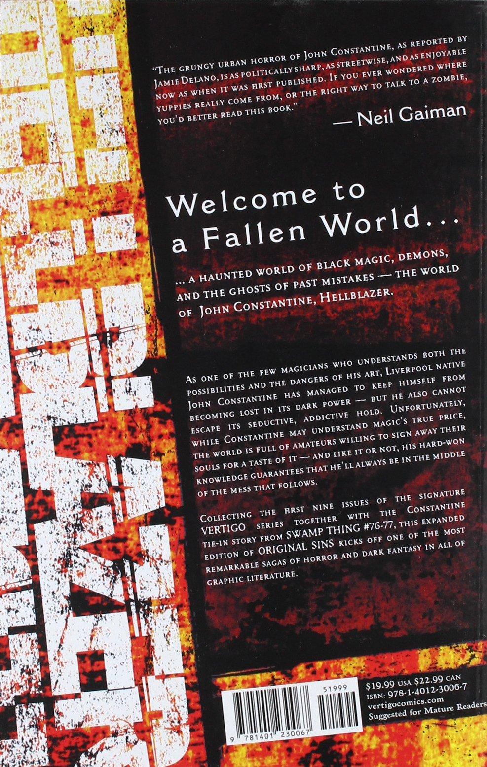 John Constantine, Hellblazer, Vol. 1: Original Sins: Jamie Delano, Rick  Veitch, John Ridgway, Alfredo Alcala, Tom Mandrake: 9781401230067:  Amazon.com: Books