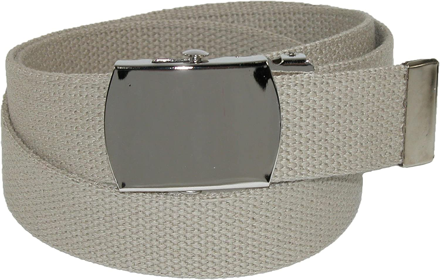 CTM Cotton Adjustable Belt with Nickel Buckle