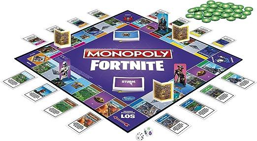 Hasbro Gaming- Monopoly Fortnite Edition Juego de mesa para videojuegos, a partir de 13 años, Color (E6603398): Amazon.es: Juguetes y juegos