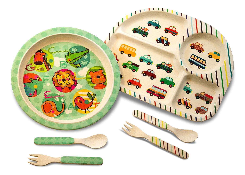 Culina Kids Bamboo 5-piece Dinnerware Set Butterfly
