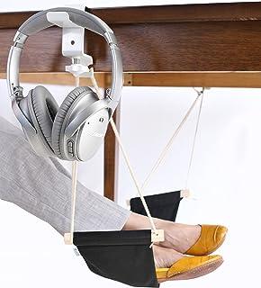 foot hammock 2 0 with headphones holder by deskool   portable ergonomic adjustable feet rest with upgraded amazon     foot hammock under desk footrest   adjustable office      rh   amazon