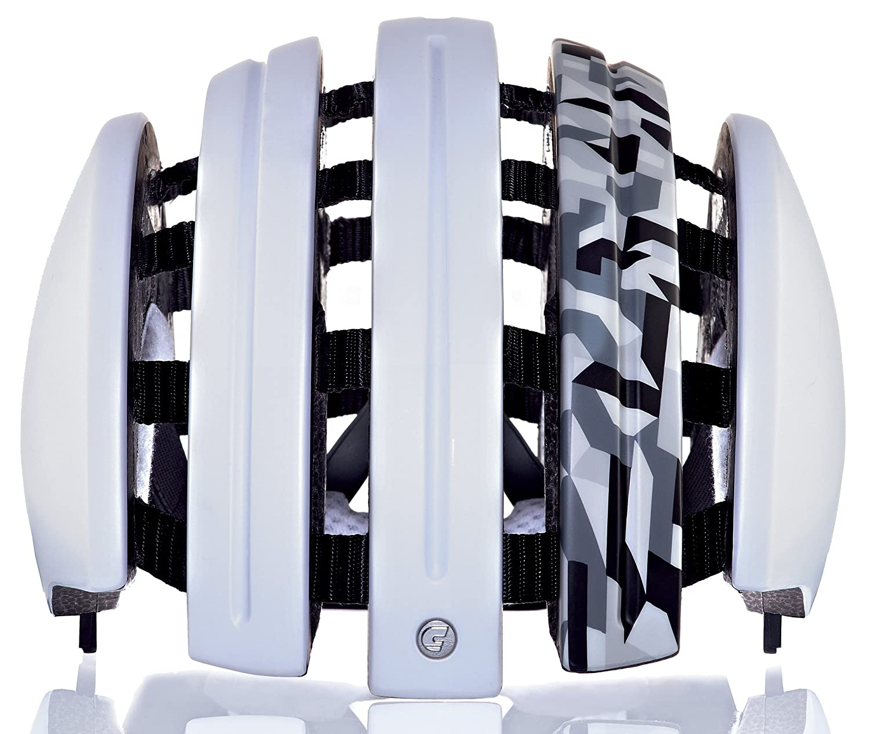 Carrera Fahrradhelm Foldable GTE Unisex Weiß mat camo