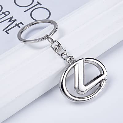 KLFALL Metal Key Chain Key Rings - 3D Keychains Keyrings Excellent Quanlity Best for Man and Woman Gifts Elegant Durable for Lexus Cars: Automotive