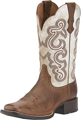 Quickdraw Cowgirl Boot Square Toe Brown