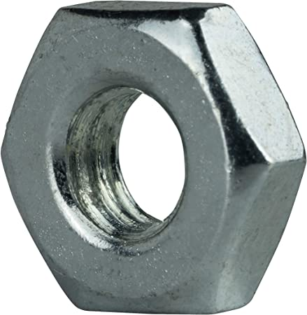 #2-56 Zinc Plated Finish Carbon Steel Machine Screw Hex Nuts 100 pk.