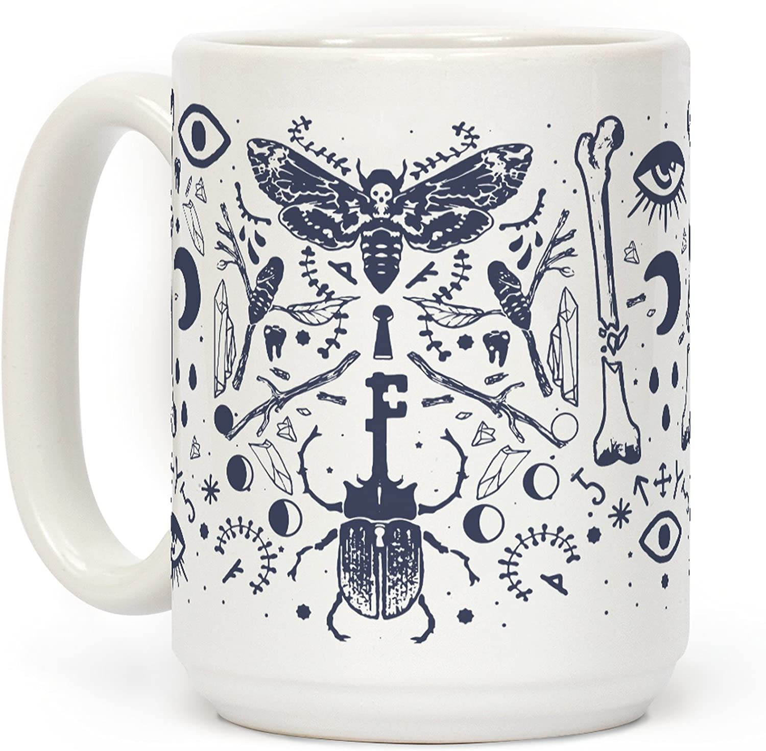 LookHUMAN Occult Musings White 15 Ounce Ceramic Coffee Mug