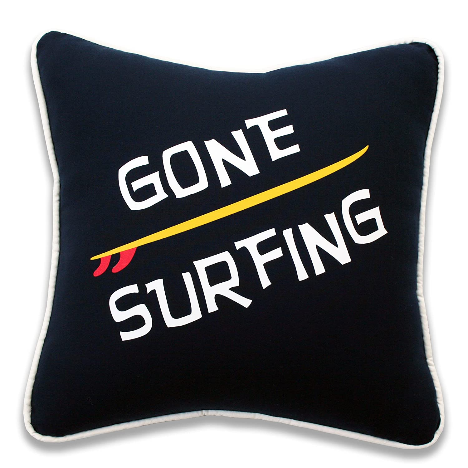 Dean Miller Surf Bedding Gone Surfing Throw Pillow