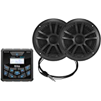 $130 » BOSS Audio Systems MCKGB450B.6 Weatherproof Marine Gauge Receiver and Speaker Package…