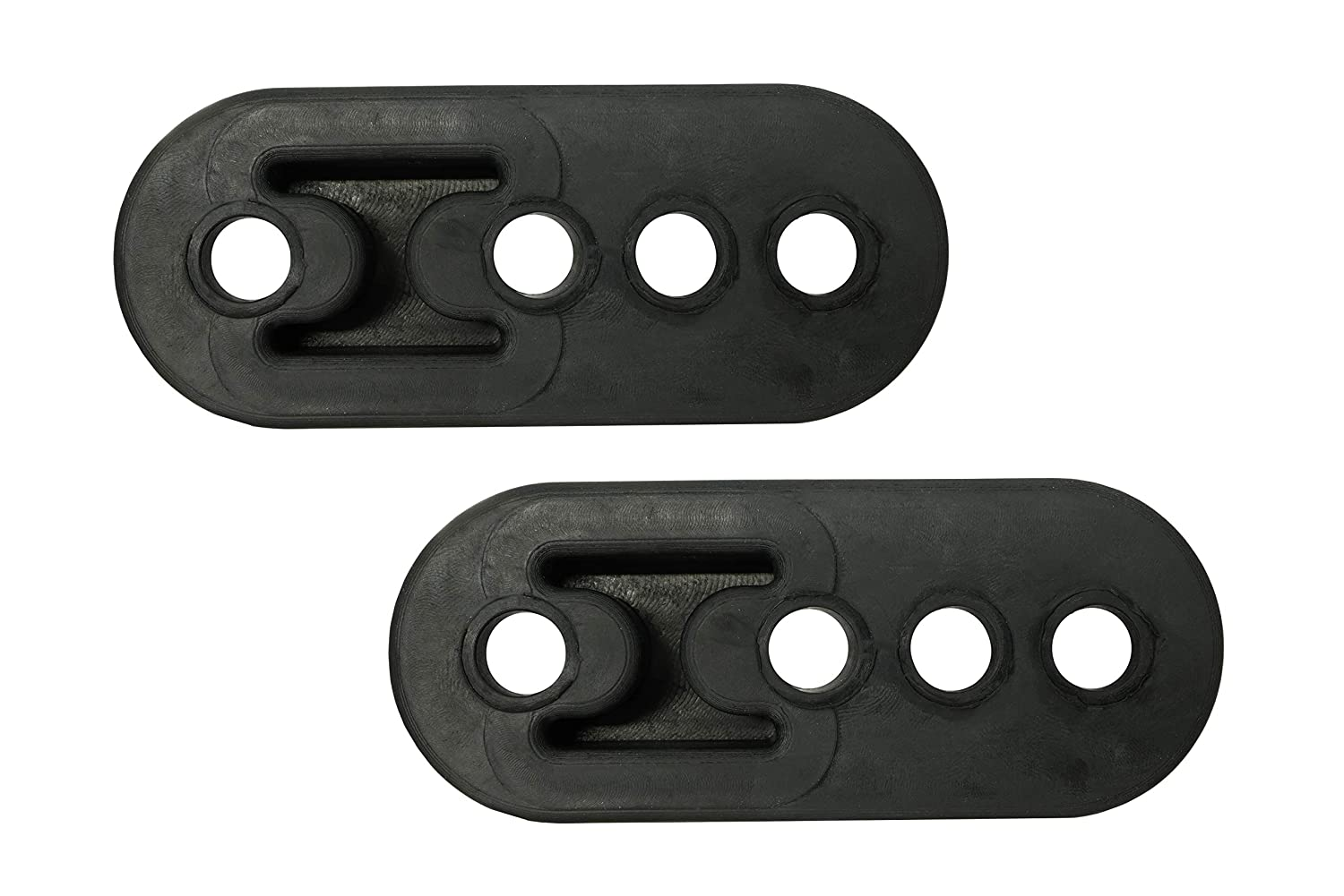 Red Notched - 2 Pack PitVisit Premium 4 Hole Exhaust Hanger Mount Bushings High Density Rubber Insulator Shock Absorbent Replacement Support Bracket for Tail Pipe Exhaust System