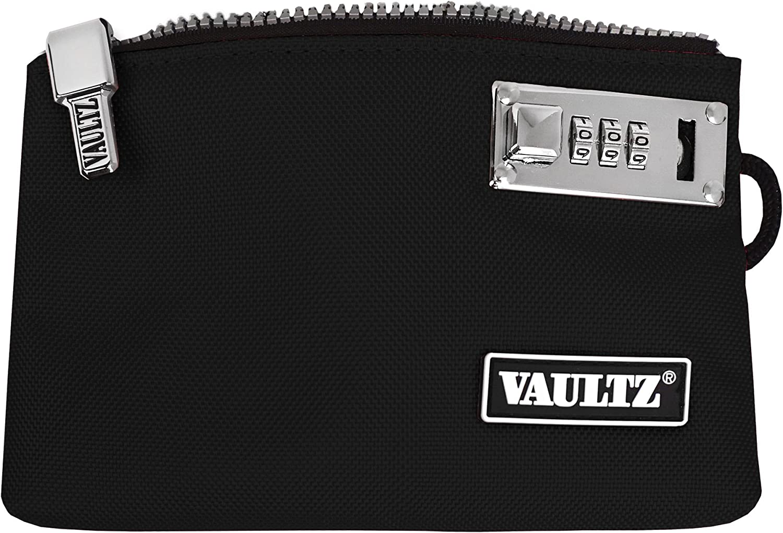 VaporVaultz Locking Accessory Pouch, 1 x 5.x 8 Inches, Black (VZ00503)