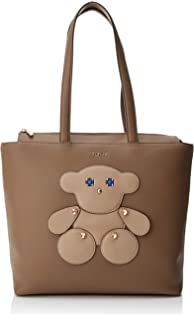 Tous Shopping Patch Maia, Shopper para Mujer, Beige (Topo), 12x28x30 cm