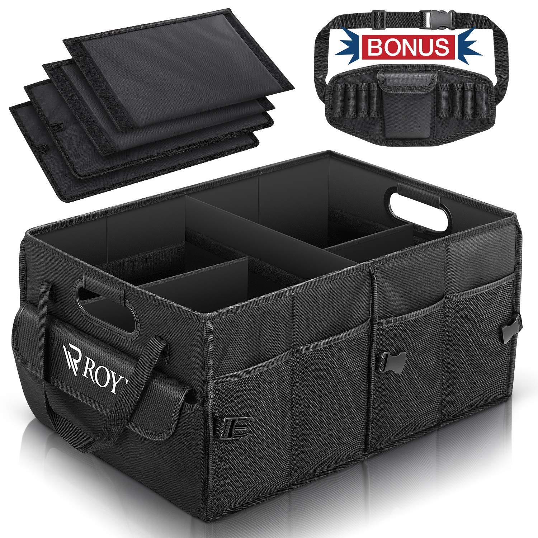 Organizador de maletero FUNPET, Caja organizadora maletero coche, Almacenamiento maletero, Caja de Almacenamiento