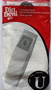 Dirt Devil Vacuum Bag Type U Fits Ultra Bagged