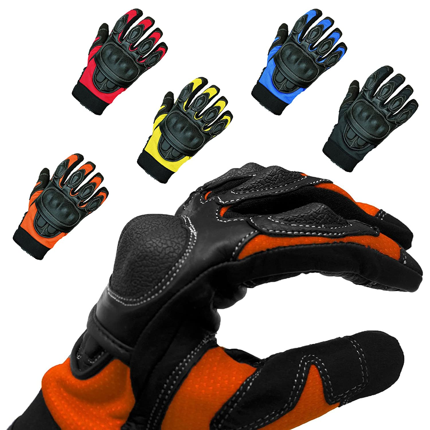 Sporty motorcycle summer gloves - scooter / moped / chopper, gloves for women and men, thin KangQi NS1513120404_04