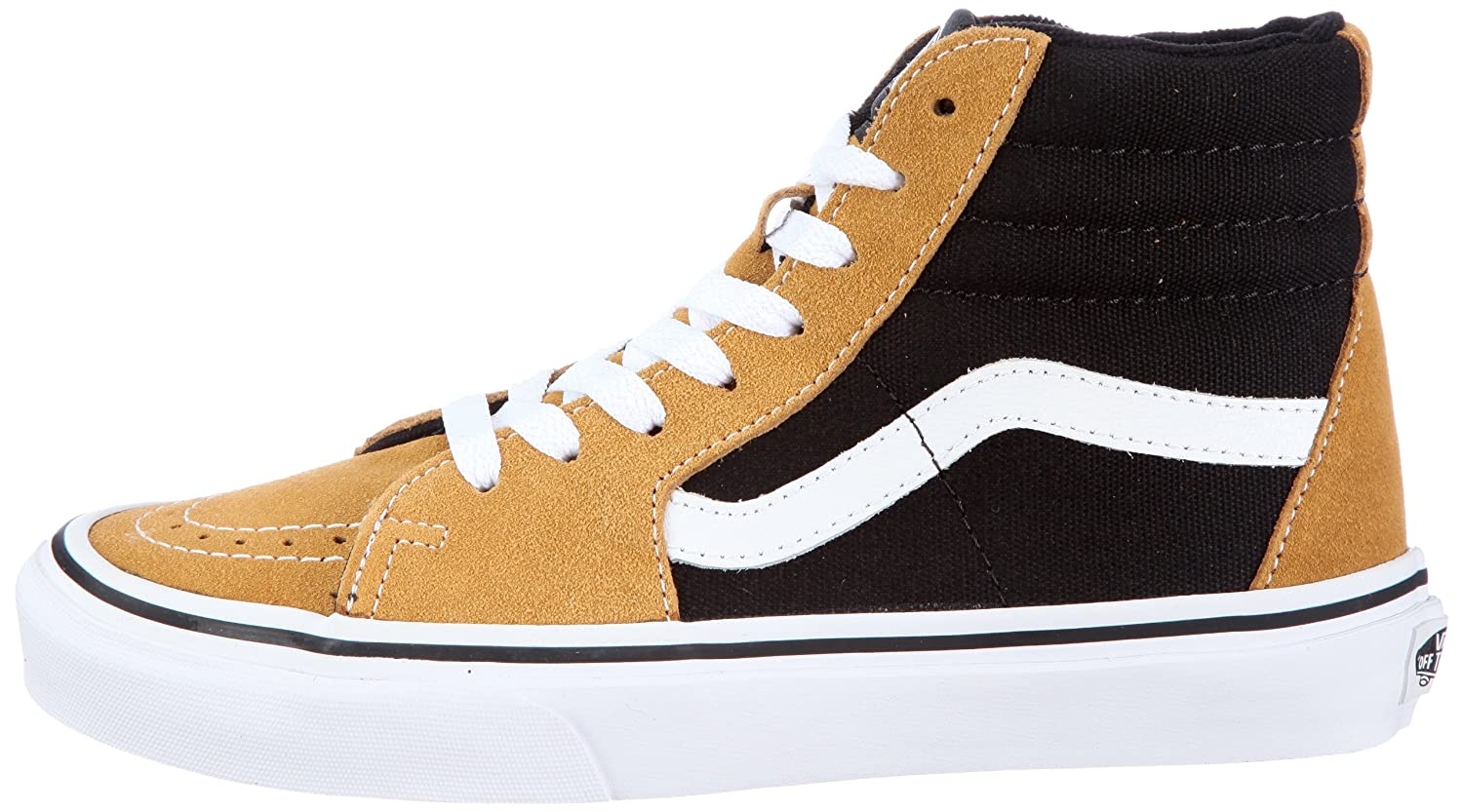 c0aba9132ff662 Vans Unisex - Adults Sk8-Hi (Suede) Honey Mustard Black Trainers Vkya5O3 Suede  Honey Mustard Black 7 UK  Amazon.co.uk  Shoes   Bags