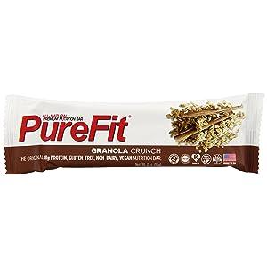 PureFit Gluten-Free Nutrition Bars with 18 grams Protein: Oatmeal Cinnamon, 2 oz Bars