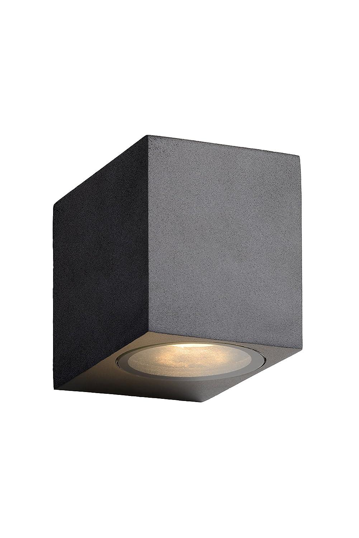 Lucide ZORA-LED - Wandstrahler Außen - LED Dim. - GU10 - 1x5W 3000K - IP44 - Weiß [Energieklasse A++] 22860/05/31