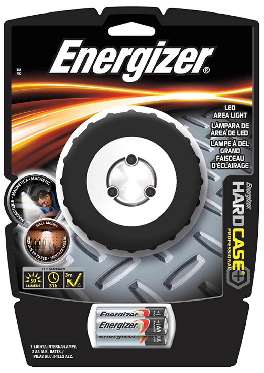 Amazon energizer hard case professional 3 led puck light amazon energizer hard case professional 3 led puck light batteries included sports outdoors mozeypictures Images