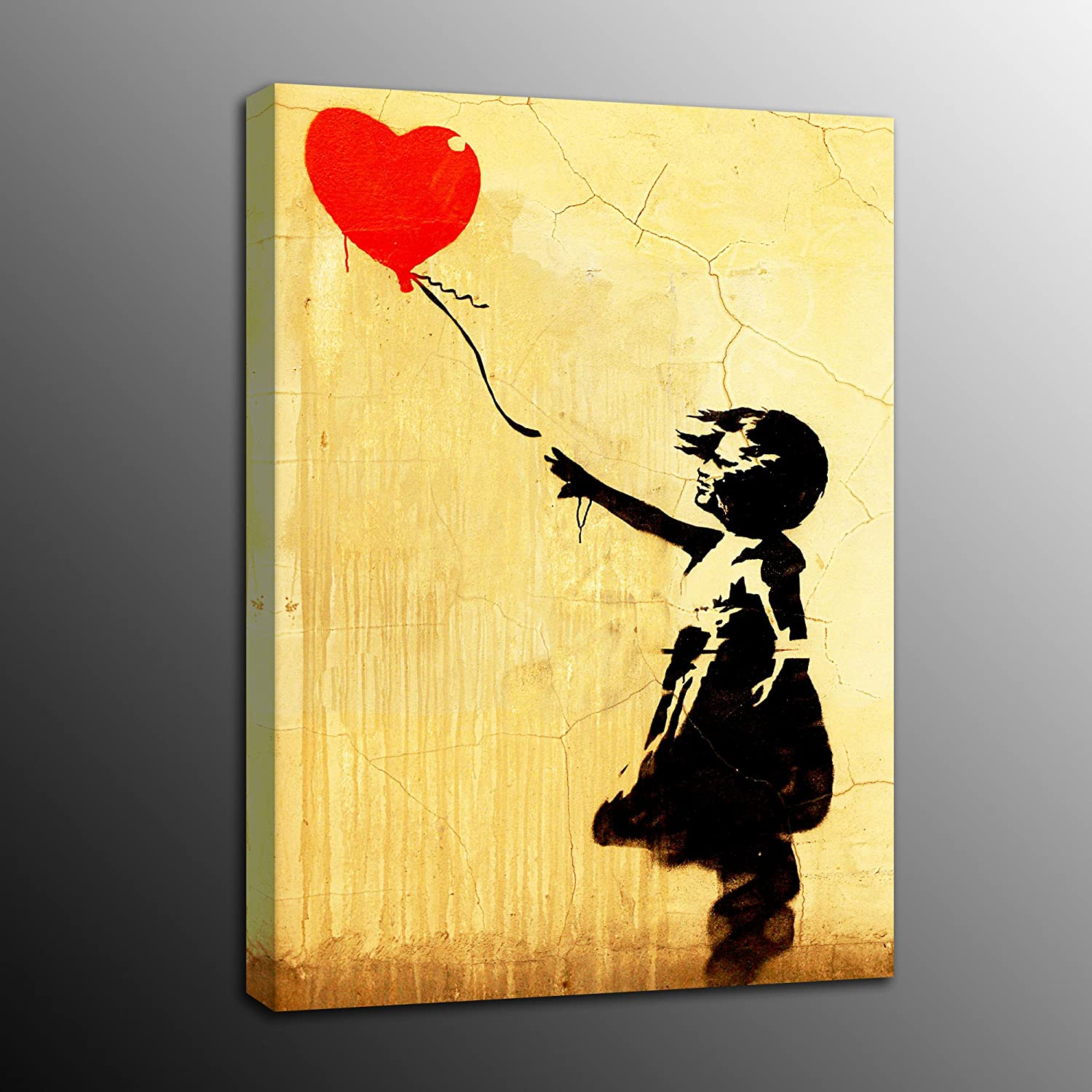 Amazon.com: Laiwang Modern Banksy Art Canvas Prints Girl With ...