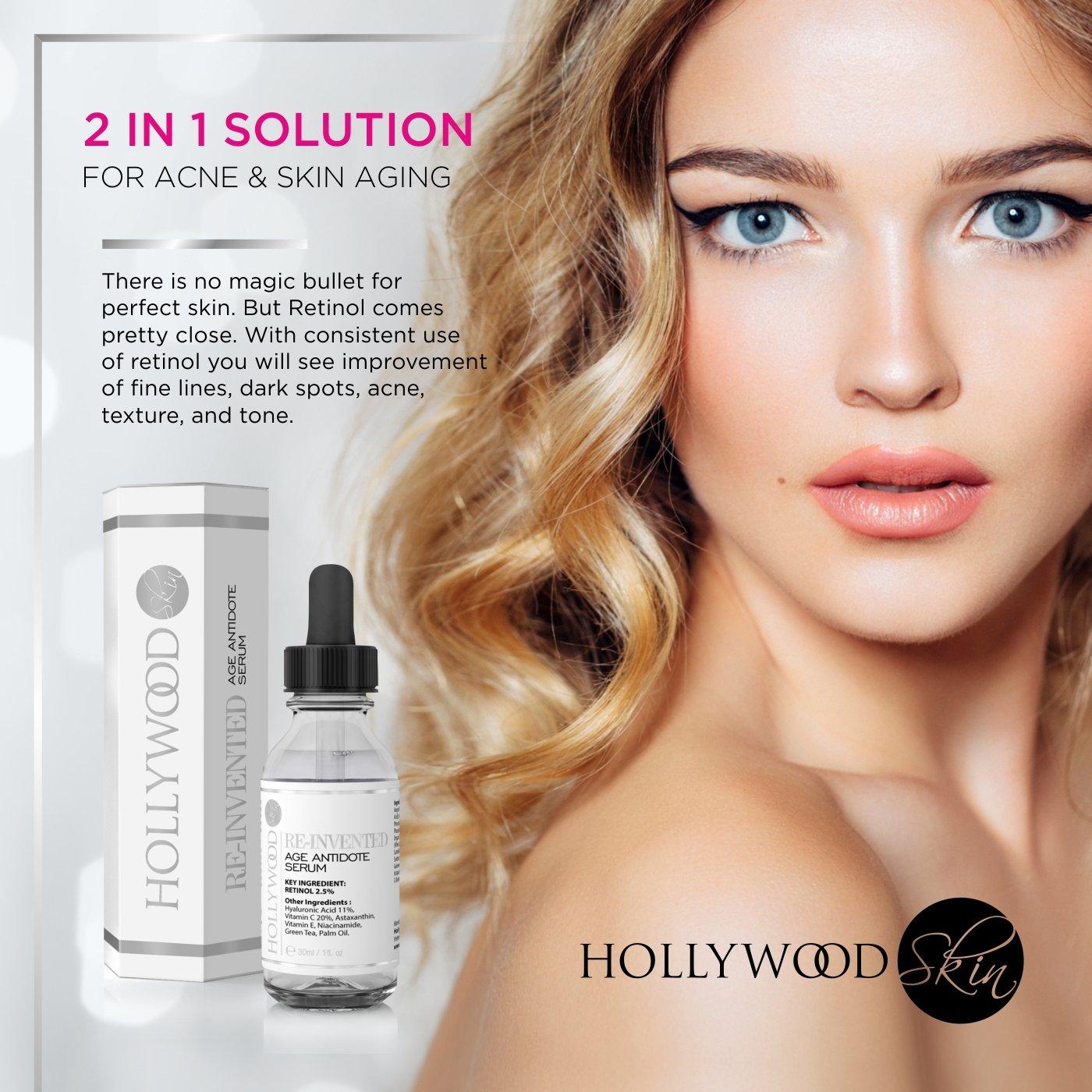Serum Retinol 2.5% -4 veces más FUERTE que tratamientos antiedad y para acné regulares. Con 11% de Ácido Hialurónico y 20% de Vitamina C, ...