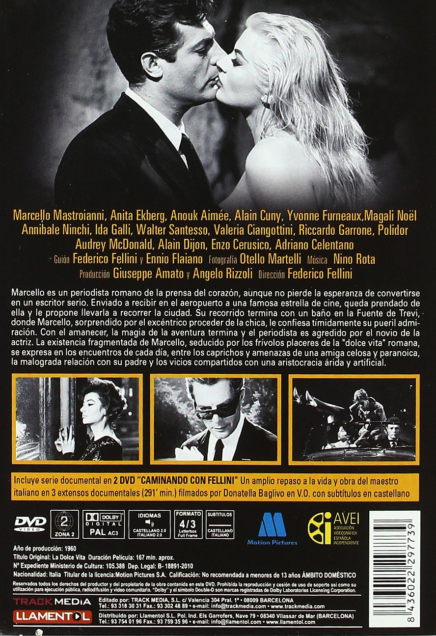 La Dolce Vita Ed 50 Aniversario 1959 Import Movie European Format Zone 2 Movies Tv
