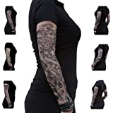 Oblique-Unique® Nylon Tattoo Ärmel - Totenkopf - Skull - Einzeln oder als 6er Set (the king)