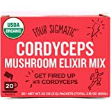 Four Sigmatic Organic Mushroom Elixir Mix with Cordyceps for Energy, Vegan, Paleo, Gluten Free, 0.1 Ounce (20 Count)