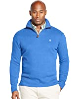Polo Ralph Lauren Mens Big & Tall French Ribbed 1/2 Zip Mock Turtleneck Sweater
