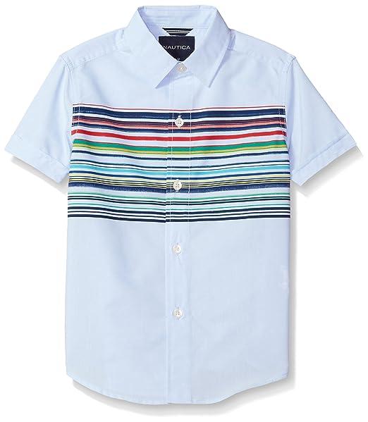 Vintage Style Children's Clothing: Girls, Boys, Baby, Toddler Nautica Boys Short Sleeve Printed Button Down Shirt $37.50 AT vintagedancer.com